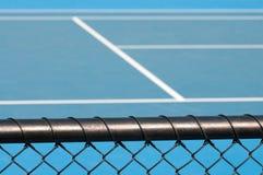 łańcuszkowy sądu ogrodzenia połączenia tenis Zdjęcie Stock
