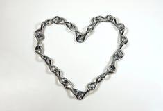 łańcuszkowy serce Obraz Royalty Free