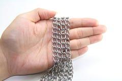 łańcuszkowy srebra obraz stock