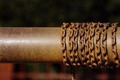 łańcuszkowy stary rdzewiejący Zdjęcie Stock