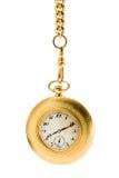 łańcuszkowy złocisty kieszeniowy zegarek Obraz Stock