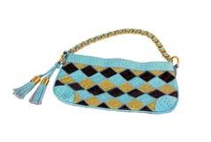 łańcuszkowy złocisty torebki damy ramię Obraz Royalty Free