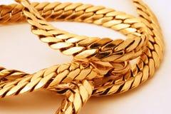 łańcuszkowy złoto Obrazy Royalty Free