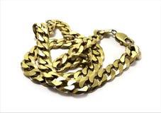 łańcuszkowy złoto Fotografia Royalty Free