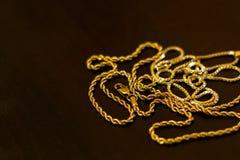 łańcuszkowy złoto Zdjęcie Stock