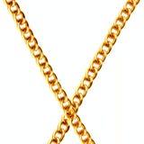 łańcuszkowy złoto dwa Obrazy Stock
