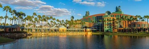 Łabędź i delfinu hotel, Disney świat Obrazy Royalty Free