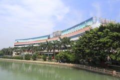 Łabędzi hotel Obrazy Royalty Free