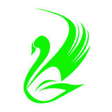 Łabędzi logo Zdjęcie Stock