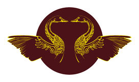 Łabędzi symbol Zdjęcia Stock