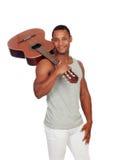 Łacińscy mężczyzna z gitarą Zdjęcia Royalty Free