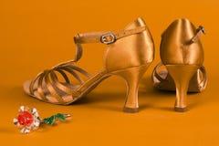 Łacińscy tanów buty Zdjęcia Stock