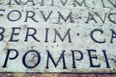 Łacińska inskrypcja na ścianie, Włochy Zdjęcia Stock