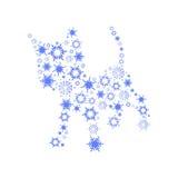 łaciński lamparta imienia śniegu uncia Zdjęcie Stock