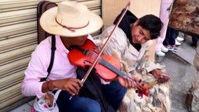 Łaciński uliczny muzyk Zdjęcia Royalty Free