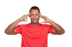 Łacińskiego mężczyzna skoncentrowany główkowanie Zdjęcie Stock