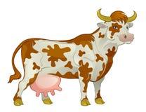 Łaciasta nabiał krowa royalty ilustracja