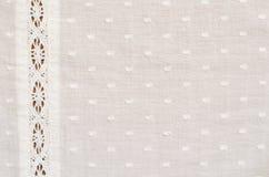 Łaciasta tkanina z koronką Obraz Royalty Free