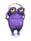 Łaciasty potwór jest ubranym hełmofony. Obraz Royalty Free