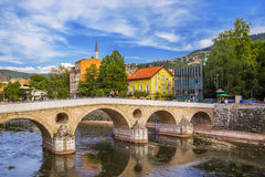 Łacina most w Sarajevo, Bośnia i Herzegovina - fotografia royalty free