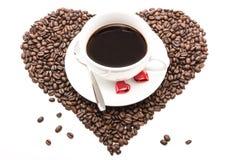 Coffee_hearts_beans Fotografia Royalty Free