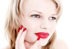 ładna blondynki kobieta zdjęcia royalty free