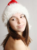ładna Boże Narodzenie dziewczyna Fotografia Royalty Free