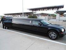 Ładna czarna limuzyna zdjęcie stock