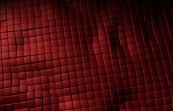 Czerwona rzemienna sześcianu tła tekstura Fotografia Royalty Free