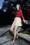 Mody piękno w parku Fotografia Stock