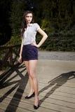 Ładna brunetka plenerowa Zdjęcie Stock