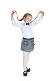 Ładna dziewczyna z pigtails zdjęcia stock