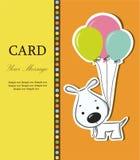 Ładna karta z śmiesznym kreskówka psem Fotografia Royalty Free