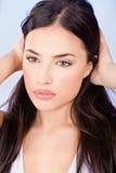Ładna kobieta z długie włosy fotografia stock