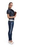 Ładna młoda kobieta w szkłach obrazy royalty free