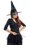 Ładna młoda rudzielec czarownica Fotografia Stock