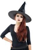 Ładna młoda rudzielec czarownica Obrazy Royalty Free