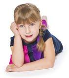Ładna mała dziewczynka   Obraz Stock