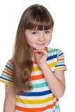 Ładna mała dziewczynka Fotografia Stock