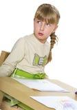 Ładna mała dziewczynka bawić się z Zdjęcia Stock