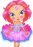 Ładna mała dziewczynka jest czarodziejska Zdjęcie Royalty Free