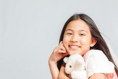 Ładna mała dziewczynka odizolowywająca Zdjęcie Stock