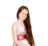 Ładna mała dziewczynka odizolowywająca zdjęcia royalty free