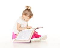 Ładna mała dziewczynka siedzi na potty. Zdjęcia Royalty Free