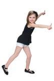 Ładna mała dziewczynka trzyma jej aprobaty Zdjęcie Royalty Free