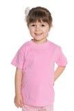 Ładna mała dziewczynka w różowej bluzce Zdjęcie Stock