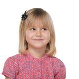 Ładna mała dziewczynka wyobraża sobie Obrazy Royalty Free