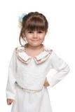 Ładna mody mała dziewczynka Obraz Royalty Free