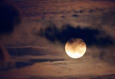 Ładna noc strzelająca księżyc w pełni Fotografia Royalty Free