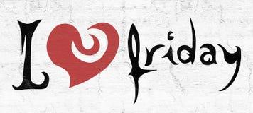 Ładna Piątek miłości wiadomość ilustracji